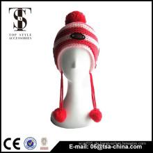 Weicher warmer Hut in Strickwolle für Babys
