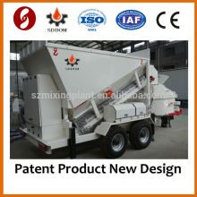 Mobile concrete mixer batching dosing machine MB1800, 20-25m3/h