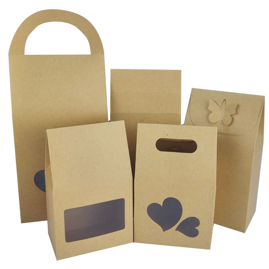 Kraft bag with pvc window