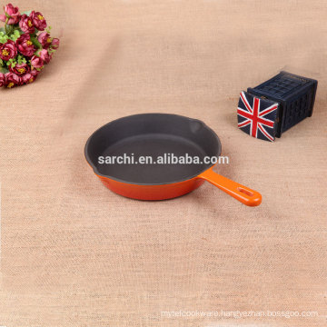 Cast iron electric paella pan with two oil mouth