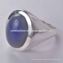 Blue Onyx Gemstone 925 Sterling Silver Ring Jewelry
