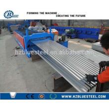 Dual Layer Wellpappe und Trapez Blech Umformmaschine, Dual Deck Zwei Profile Dachziegel / Platte / Panel Hersteller