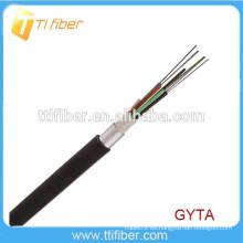 Cable óptico trenzado de la capa longitudinal de aluminio GYTA