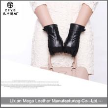 Luvas de couro de pele de carneiro das mulheres baratos e de alta qualidade