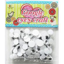 Yeux de jouets en plastique pour les jouets en plastique avec des cils, bricolage des yeux de googly