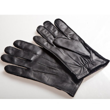 Men′s Fashion Outside Sewing Sheepskin Leather Driving Gloves (YKY5191)