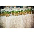 round unique satin table cloth for wedding decoration