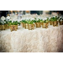 round unique satin table cloth for wedding decoration