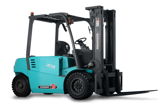 Forklift With Side Out Battery