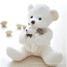 ICTI Audited Factory Doctor oso con ropa blanca juguete de peluche