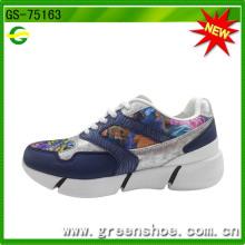 Venda quente de alta qualidade das mulheres das sapatilhas da fábrica de China