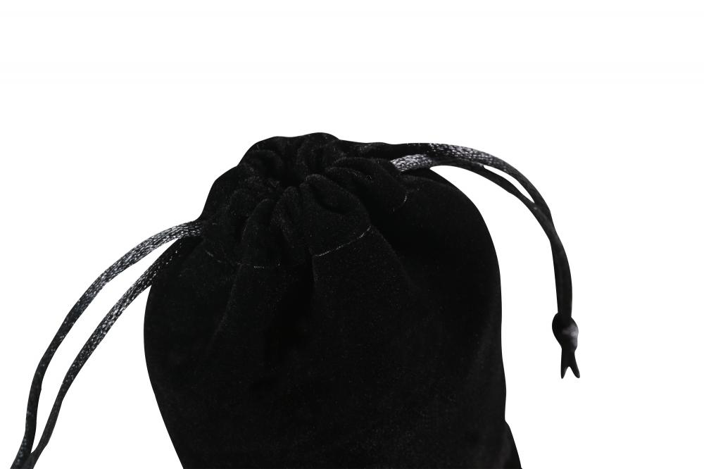 Customized Velvet pouch with black silk string
