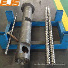 PE, PP, PVC Verarbeitung Extruder Twin Schraube Fass