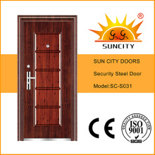 Stahl-einzelnes Sicherheitstür-Design