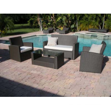 Garden Furniture Knock Down PE Rattan Sofa for Outdoor Furniture