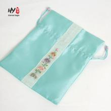 Saco de embalagem de cabelo de cetim de seda requintado para as mulheres