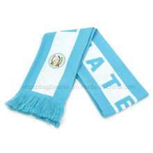Wholesale Custom Cheap Knitted Warm Wool Football Game Scarf