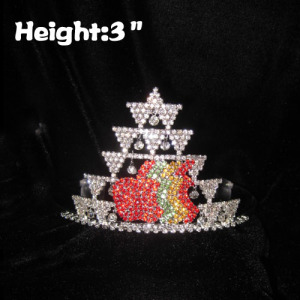 3in Height Crystal Rhinestone Apple Pageant Crowns
