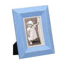 Bright Blue Color Wooden Photo Frame for Home Deco