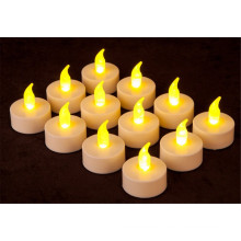 Batteriebetriebene Amber LED Teelicht Kerzen Flammenlose Heatless Flackern Wickless