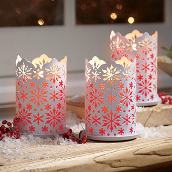 christmas ceramic decoration snowflake scented candles