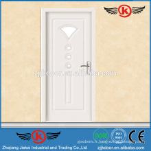 JK-P9076 Laminée en PVC blanc Cabinet de cuisine Porte en verre