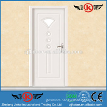 JK-P9076 White PVC Laminate Kitchen Cabinet Glass Door