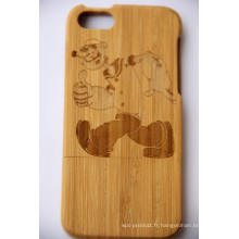 Nouvelle conception en bois housse de protection arrière pour iphone OEM / ODM