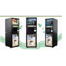 Máquina expendedora inmediata del café del anuncio inteligente de los medios de los 19inch