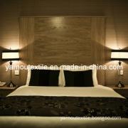 Hotel Bed Linen/100%Cotton Hotel Bedding Set/100%Cotton White Embroidery Satin Hotel Bedding Set (YNL005)