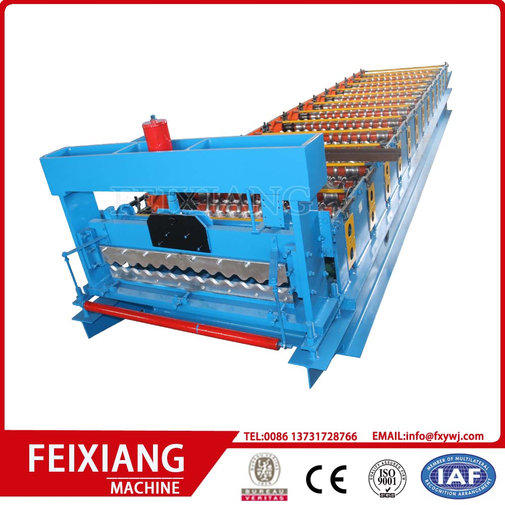 Metal corrugated wave sheet roll forming machine