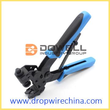 Coaxial On BNC RCA Connectors Compression Crimping Tool