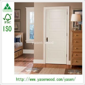 Porte en bois composite blanche de modèle d'échantillon