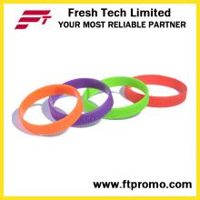 Pulseiras de silicone em relevo promocionais com o seu logotipo
