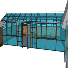 Sunroom Screen Victorian Glass House para piscina