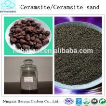 Approvisionnement d'usine Matériaux de traitement de l'eau 2-4mm Naturel Ceramsite / Ceramsite Sable