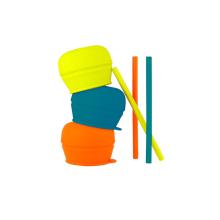 Tapas de paja de silicona universales de grado alimenticio