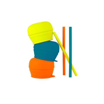 Tampas de palha de silicone universal de grau alimentício
