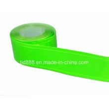 Material reflectante verde para hacer el chaleco de la seguridad