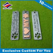 Letters Souvenir 3D Metal Dog Tag