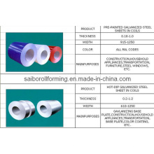Vorgestrichener / heiß-DIP galvanisierter Stahl