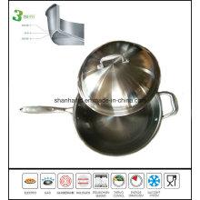 Stainless Steel Honeycomb Design Wok