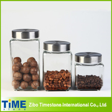 Large Storage Square Jar Set con tapa