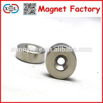 ronda de magnetización axial ndfeb imanes con agujeros
