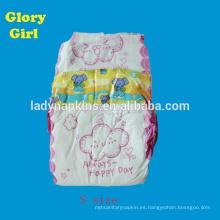 Pañal de bebé súper suave de algodón usado pañal de bebé desechable soñoliento