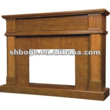solid wood electric fireplace mantel