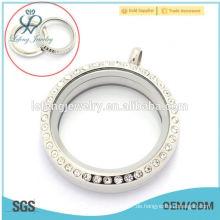 Trendy DIY Designs 25mm / 30mm runde Silber Twist / Schraube Großhandel schwimmende Glas Charme locket für Jungen und Mädchen