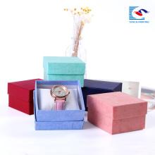 Premium rechteckige Kraftpapier Schmuck Box kleine Karton Ring-Boxen Bulk Großhandel