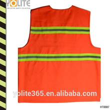High Visibility Mesh Safety Vest Magic Tape Closure