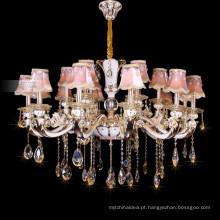 Uma vela de cristal brilhante iluminação império lustre de cristal 88630